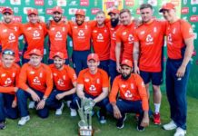 England win the T20I trophy