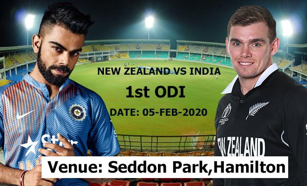 New Zealand vs India 1st ODI Playing XI
