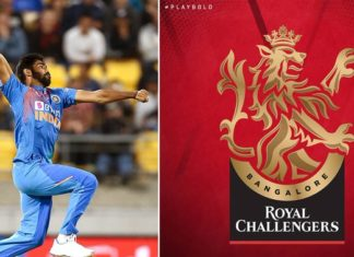 RCB logo looks alike Bumrah bowling action