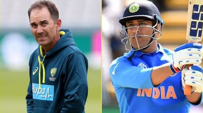 Dhoni and Justin Langer