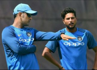 Dhoni and Kuldeep Yadav