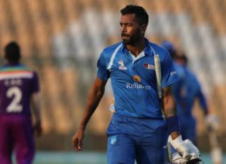 Hardik Pandya in DY Patil T20 cup
