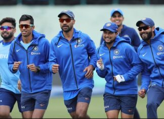 Indian team ahead of 1st ODI