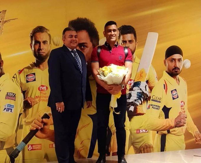 MS Dhoni in Chennai for IPL 2020