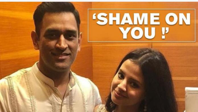 Sakshi Dhoni's reply to false rumour on Dhoni's donation