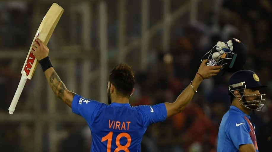 Virat Kohli registered his 15th T20I half-century against Australia in ICC World Twenty20 2016