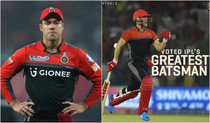 AB De Villiers has been selected as the greatest IPL batsman of all time