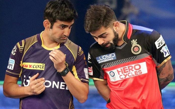 Gambhir and Virat Kohli