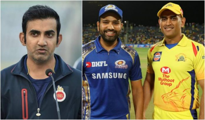 Gambhir points the best IPL captain comapring MS Dhoni and Rohit Sharma