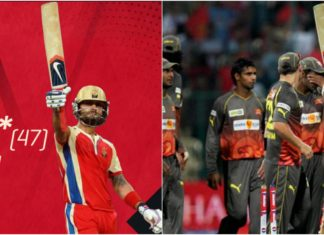 RCB's Virat Kohli Scored his then Career-Best in the Indian Premier League 2013 against SunRisers Hyderabad at the M. Chinnaswamy Stadium.