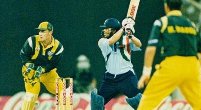 Sachin Tendulkar smashed 14th ODI century vs Australia in Sharjah