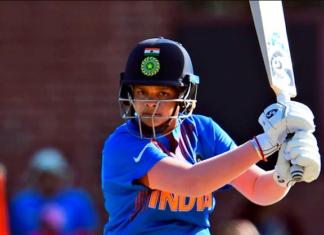 Shafali Verma batting