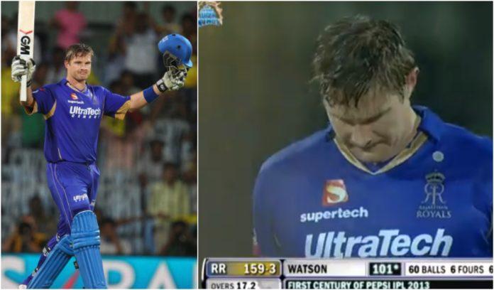 Shane Watson scored maiden T20 century vs CSK in Chennai