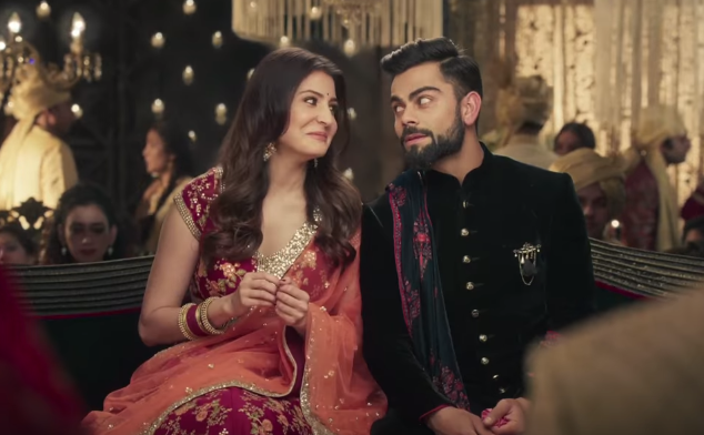 Virat Kohli with his wife Anushka Sharma