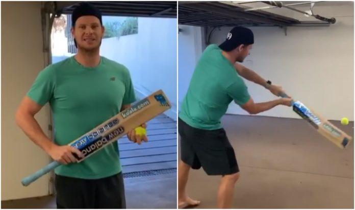 Steve Smith Enhances Hand-Eye Coordination With Isolation Batting