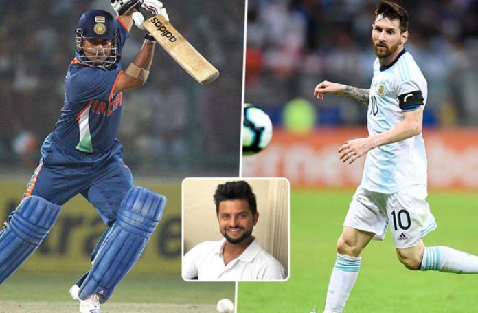 Suresh Raina draws out similarities between Lionel Messi and Sachin Tendulkar