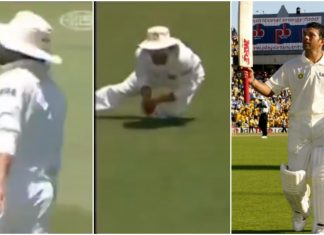 Sachin Tendulkar catches in Test match against Australia
