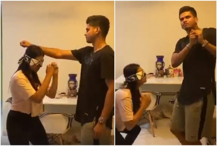 Shreyas Iyer Training With his Sister