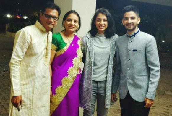 Smriti Mandhana's family
