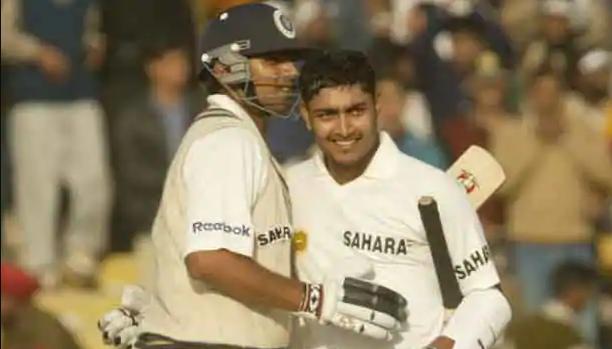 Deep Dasgupta playing with Rahul Dravid