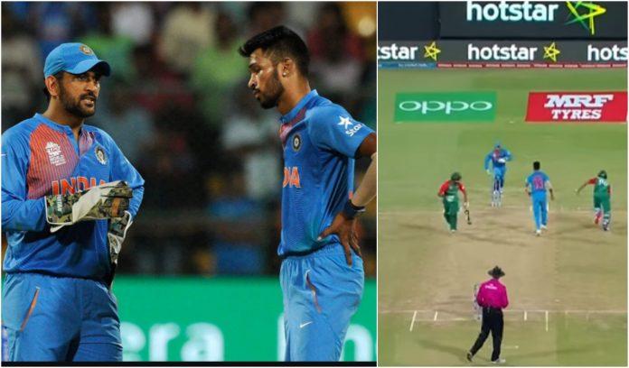 Hardik Pandya's last over in India vs Bangladesh T20 2016