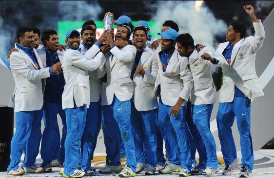2013 ICC Champions Trophy winning moment