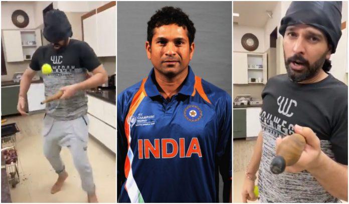 Yuvraj Singh challenge Sachin Tendulkar to break his record in kitchen