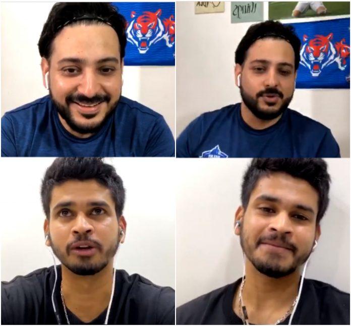 Shreyas Iyer Instagram Live with DC