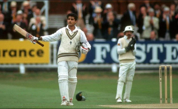 Sourav Ganguly hits century in his test debut match