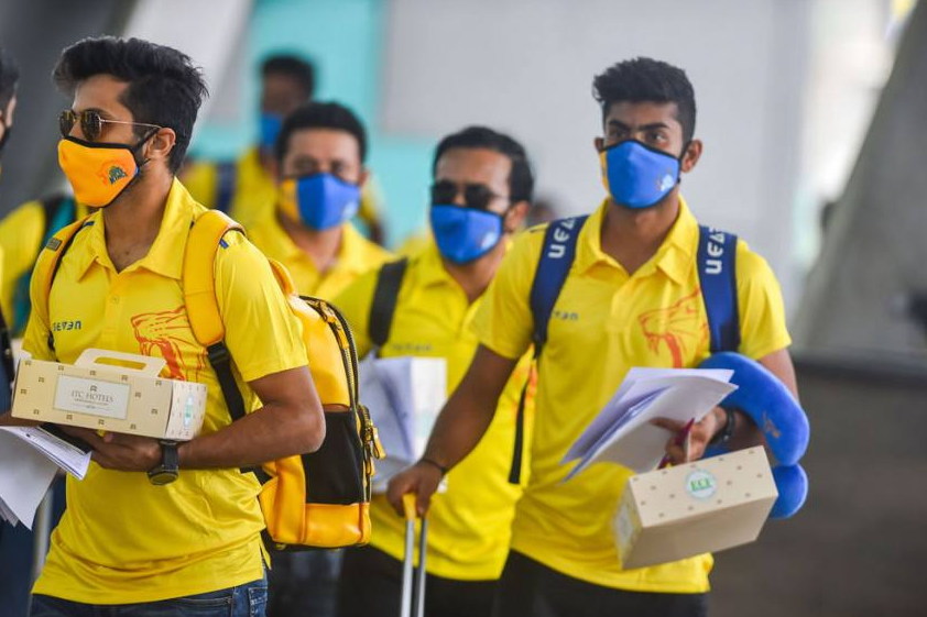 positive results came after CSK players, squad members and support staff underwent coronavirus tests on Thursday.