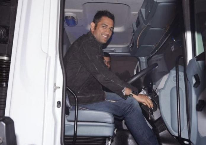 Dhoni driving team bus During 2008 Test Series Against Australia