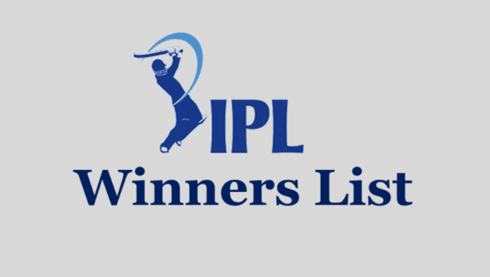 IPL winners list since 2008