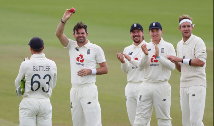James Anderson becomes first fast bowler to take 600 wickets in Test match