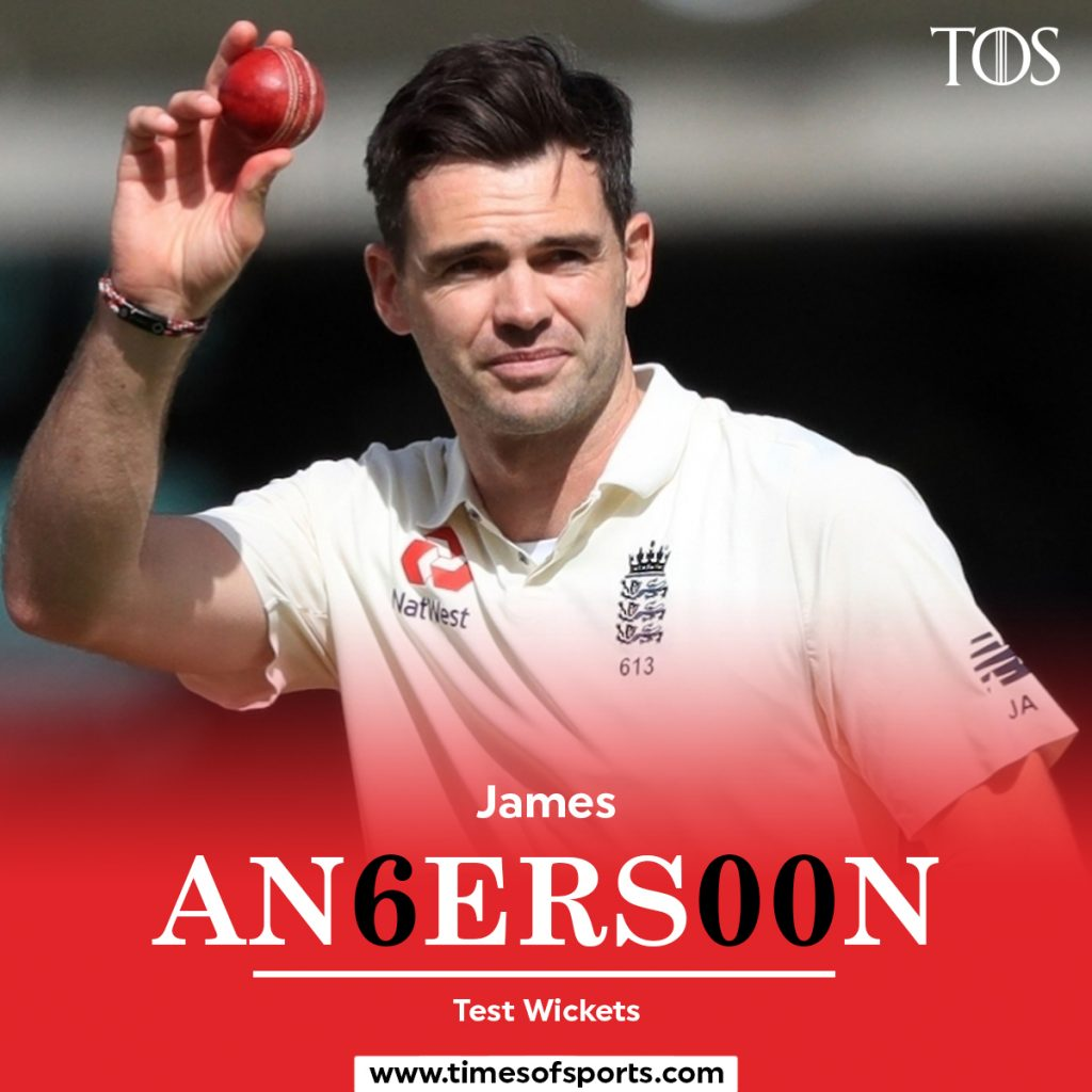 James Anderson 600 Test Wickets