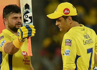 Suresh Raina left to India