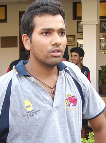 becoming an opener batsman, Rohit was an off-spinner bowler