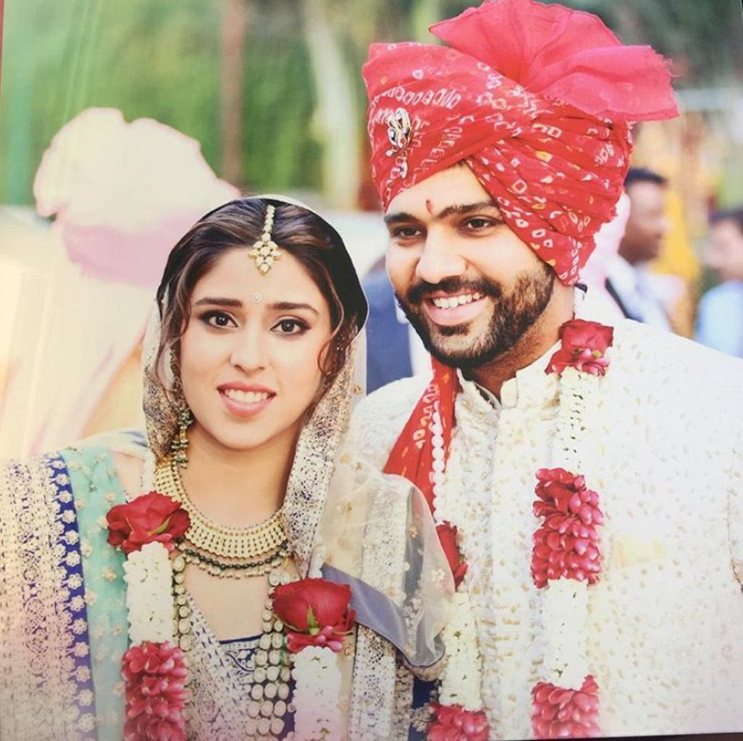 Rohit Sharma married Ritika on 13 December 2015 at a five-star hotel in suburban Bandra