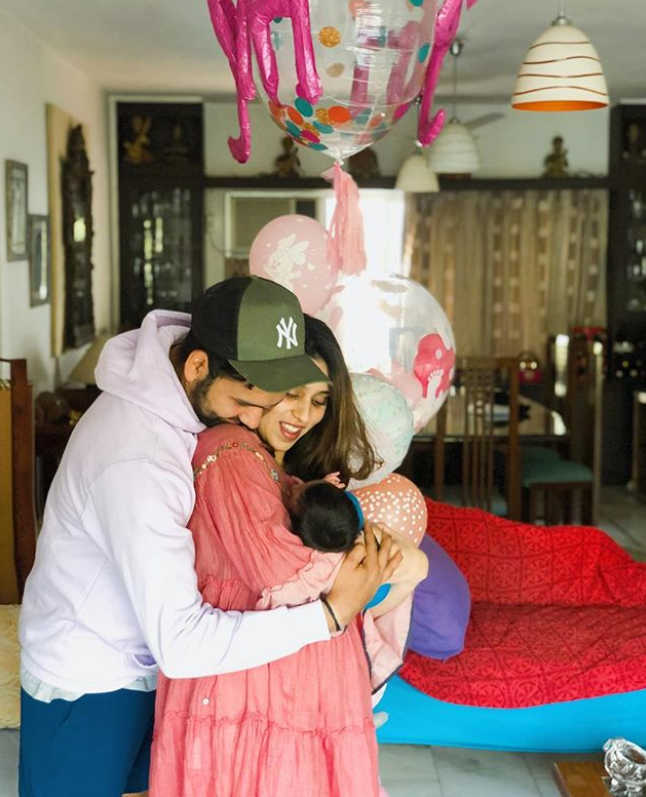 the couple gave birth to a baby girl on 30 December 2018 and named her Samaira.