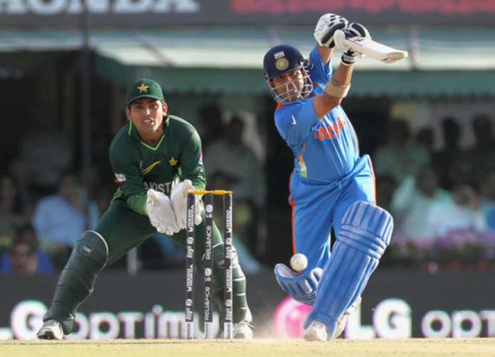 Sachin against Pakistan in 2011 World cup