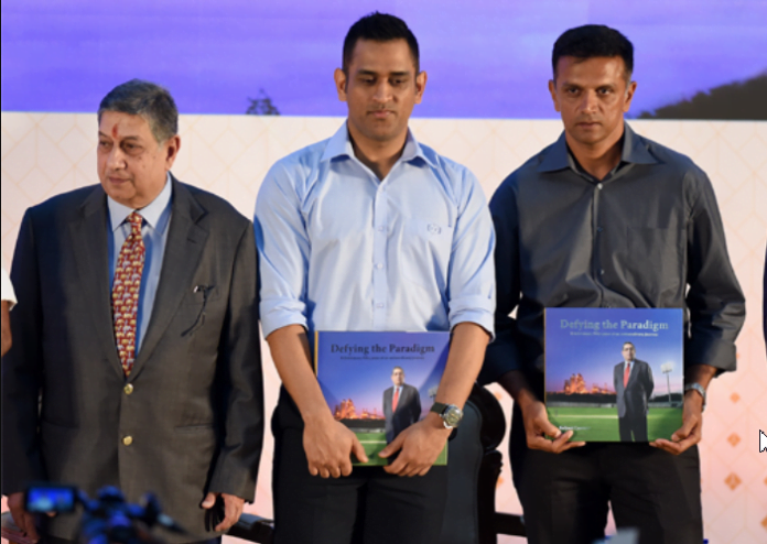 Dravid and Srinivasan praises Dhoni