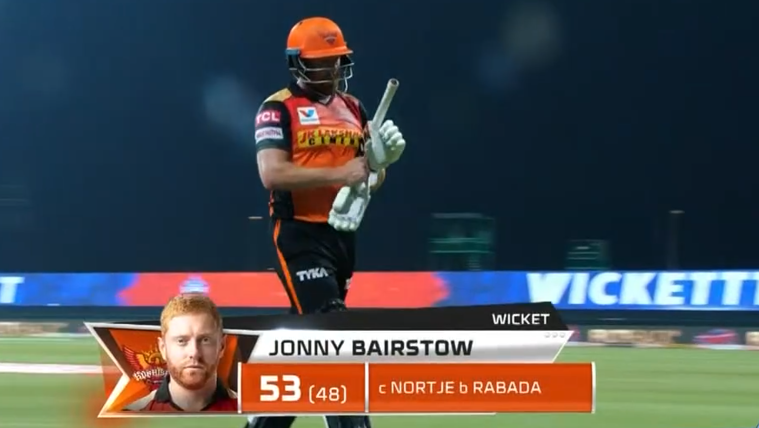Bairstow dismissed for 53 runs