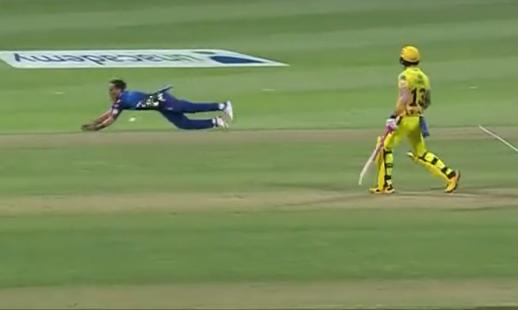 Chahar dropped Rayudu's catch
