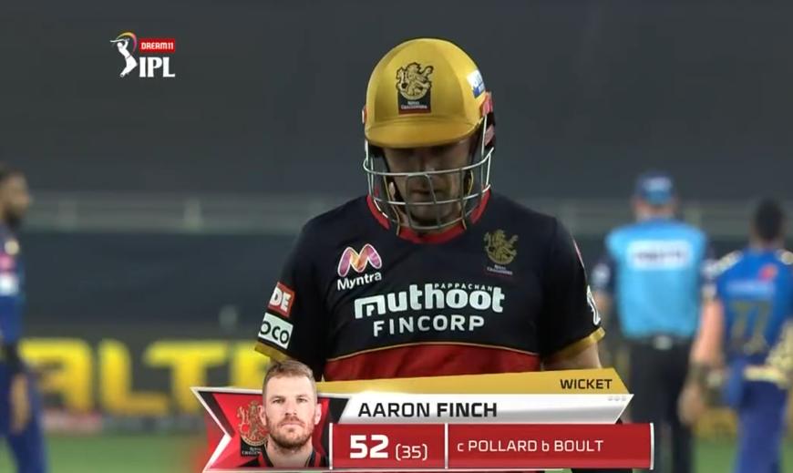 Finch dismissed for 52 runs