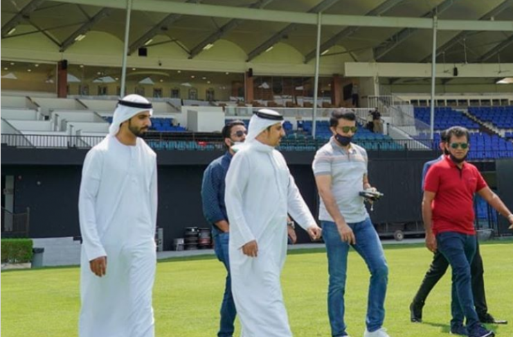 Ganguly reaches UAE