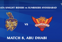 IPL 2020 KKR vs SRH