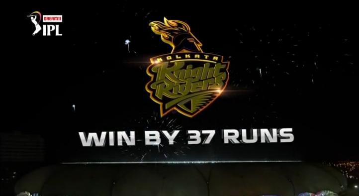 IPL 2020 RR vs KKR   Kolkata Knight Riders won by 37 runs