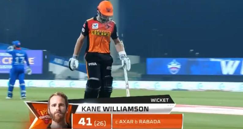 Kane Williamson dismissed for 41 runs