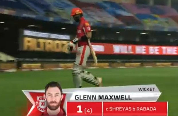 Maxwell dismissed for one run