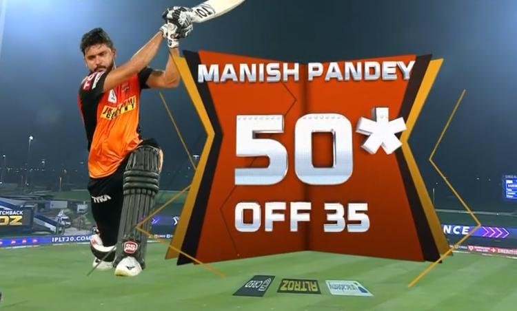 Manish Pandey half century