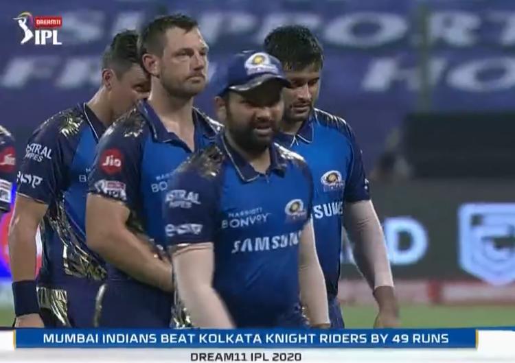 IPL 2020 KKR vs MI Mumbai Indians defeated KKR by 49 runs